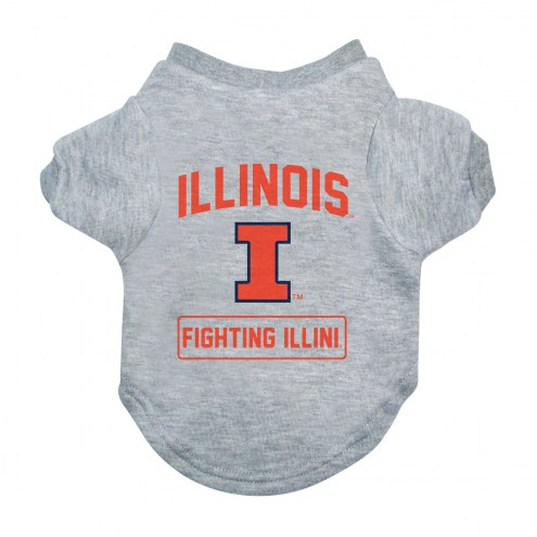 Illinois Fighting Illini Gray Dog Tee