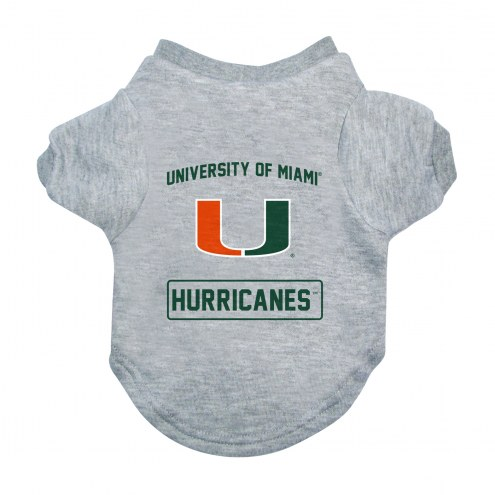 Miami Hurricanes Gray Dog Tee