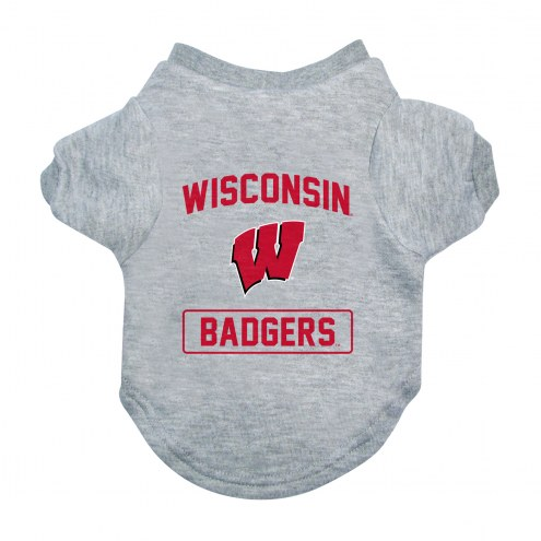 Wisconsin Badgers Gray Dog Tee
