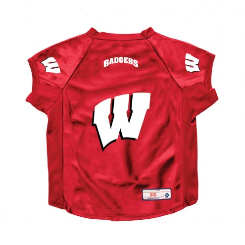 Wisconsin Badgers Stretch Dog Jersey