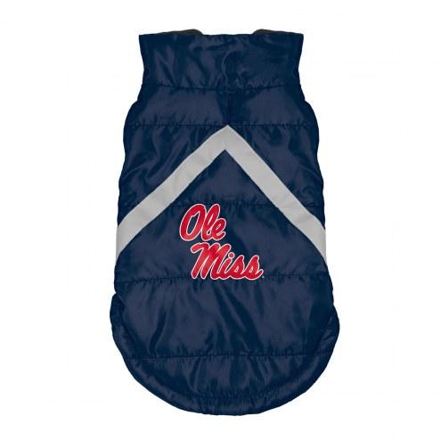 Mississippi Rebels Dog Puffer Vest