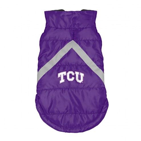Texas Christian Horned Frogs Dog Puffer Vest