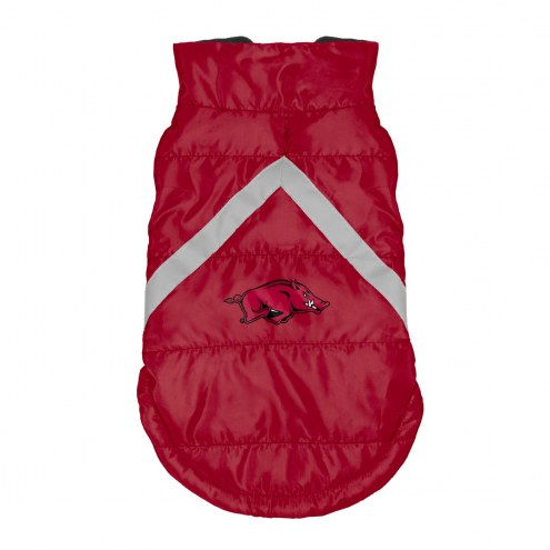 Arkansas Razorbacks Dog Puffer Vest