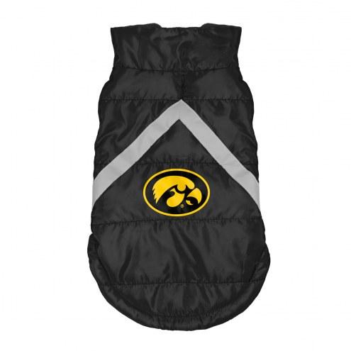 Iowa Hawkeyes Dog Puffer Vest