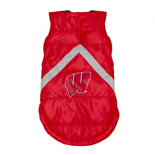 Wisconsin Badgers Dog Puffer Vest