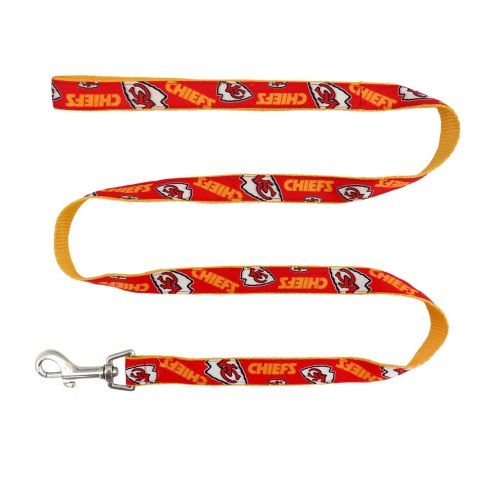 Kansas City Chiefs Dog Ribbon Leash