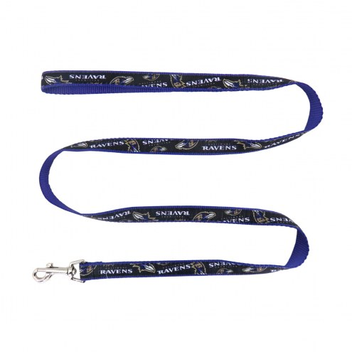 Baltimore Ravens Dog Ribbon Leash