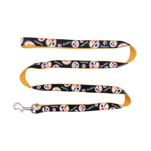 Pittsburgh Steelers Dog Ribbon Leash