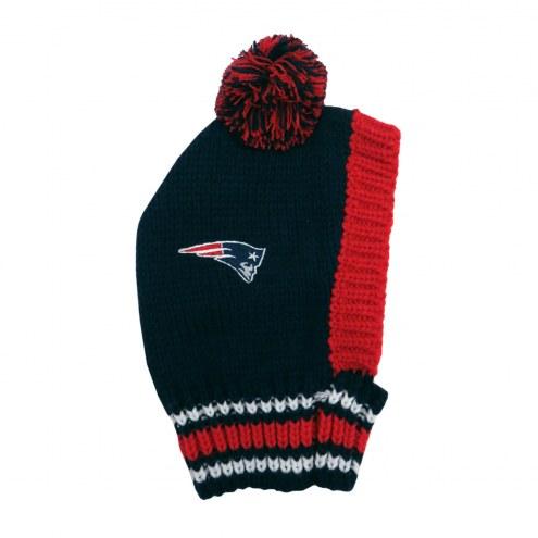 New England Patriots Knit Dog Hat