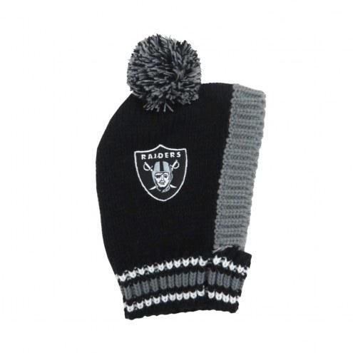 Oakland Raiders Knit Dog Hat