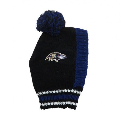Baltimore Ravens Knit Dog Hat