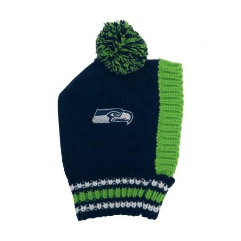 Seattle Seahawks Knit Dog Hat