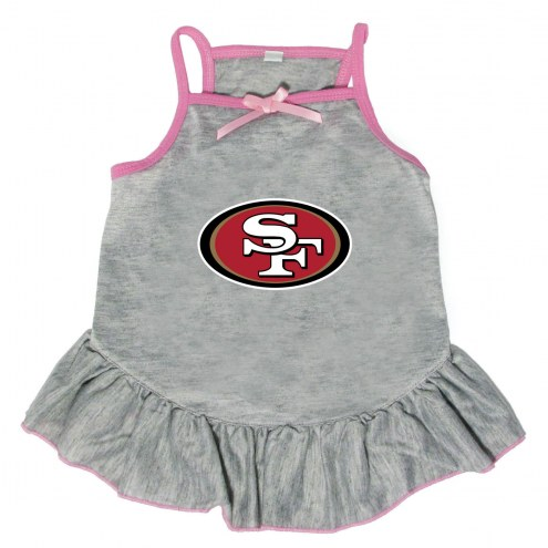 San Francisco 49ers Gray Dog Dress