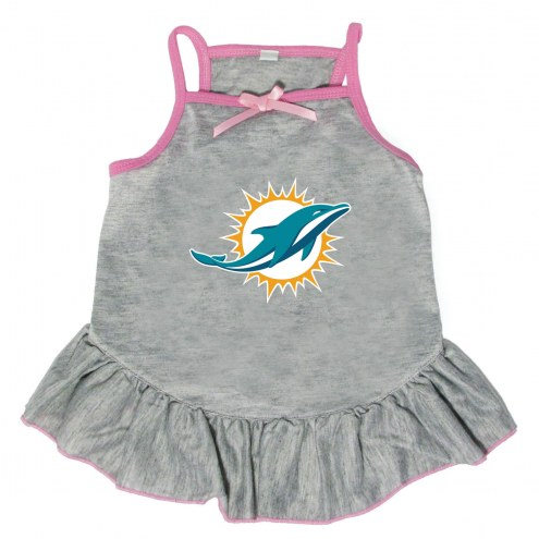 Miami Dolphins Gray Dog Dress