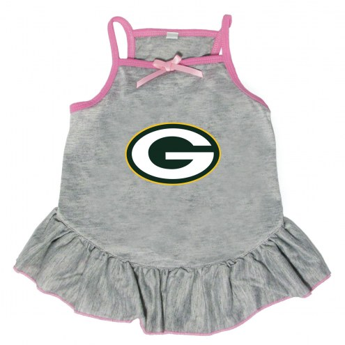 Green Bay Packers Gray Dog Dress