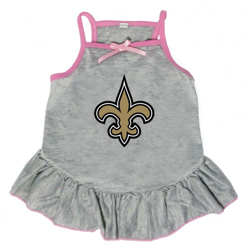 New Orleans Saints Gray Dog Dress
