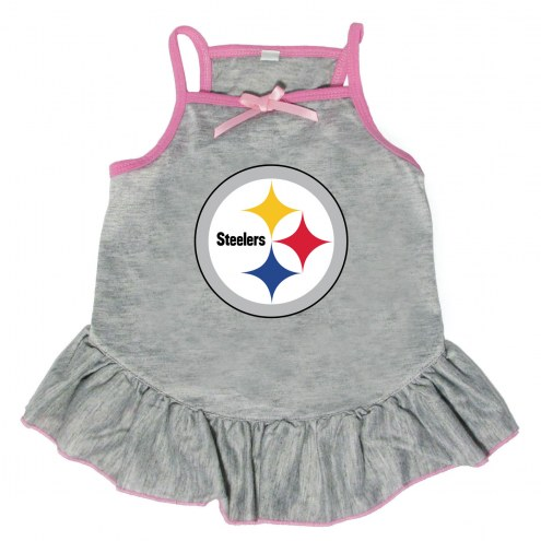 Pittsburgh Steelers Gray Dog Dress