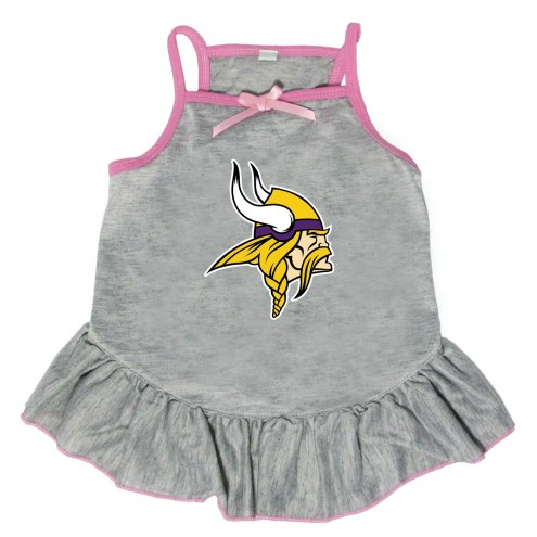 Minnesota Vikings Gray Dog Dress
