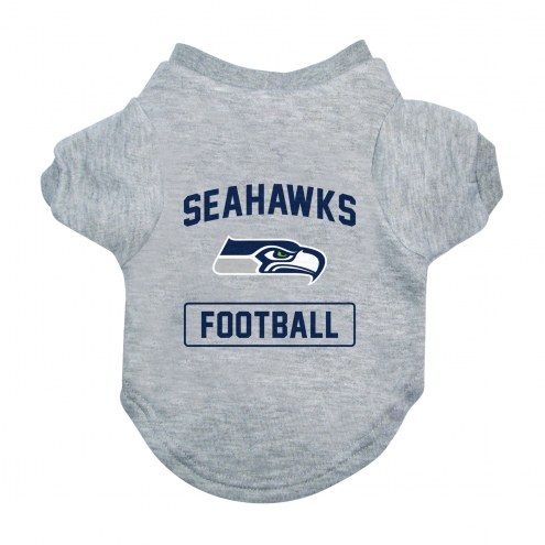 Seattle Seahawks Gray Dog Tee