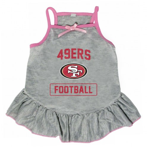 San Francisco 49ers NFL Gray Dog Dress