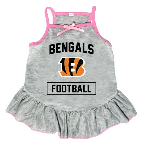 Cincinnati Bengals NFL Gray Dog Dress