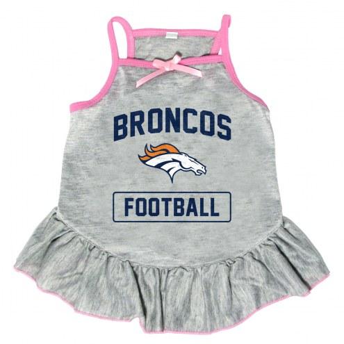 Denver Broncos NFL Gray Dog Dress