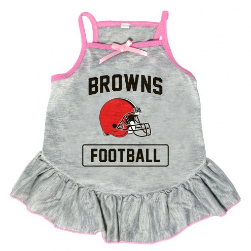 Cleveland Browns NFL Gray Dog Dress