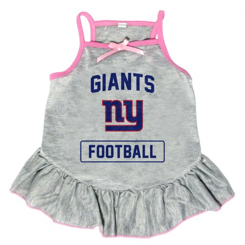 New York Giants NFL Gray Dog Dress