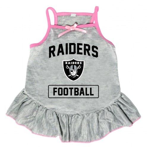 Oakland Raiders NFL Gray Dog Dress