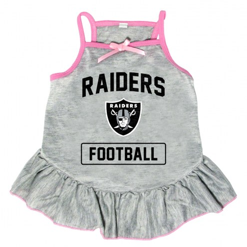 Las Vegas Raiders NFL Gray Dog Dress
