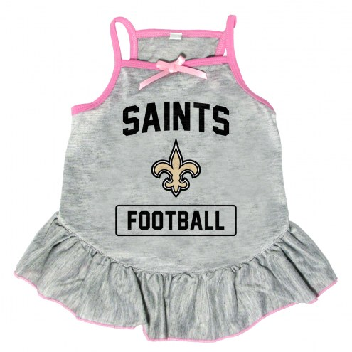 New Orleans Saints NFL Gray Dog Dress