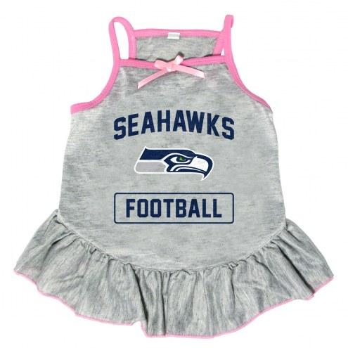 Seattle Seahawks NFL Gray Dog Dress