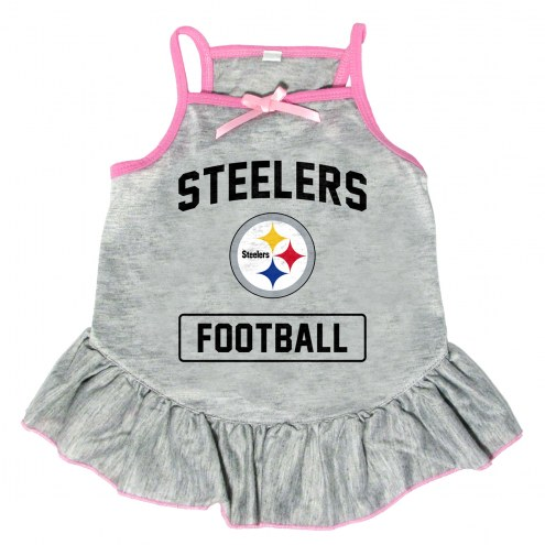 Pittsburgh Steelers NFL Gray Dog Dress
