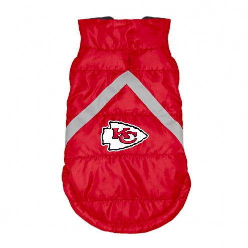 Kansas City Chiefs Dog Puffer Vest