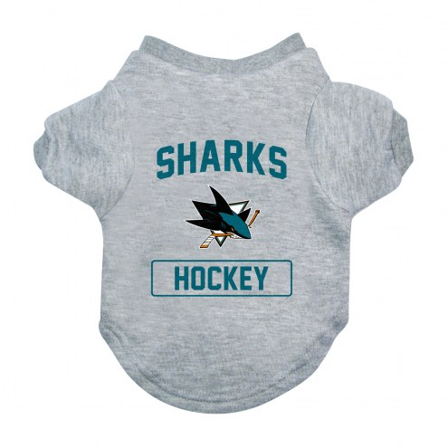 San Jose Sharks Gray Dog Tee