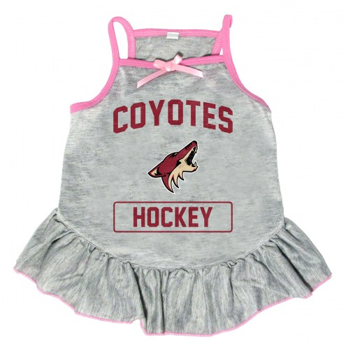 Arizona Coyotes Gray Dog Dress