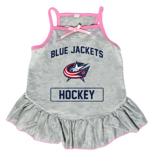 Columbus Blue Jackets Gray Dog Dress