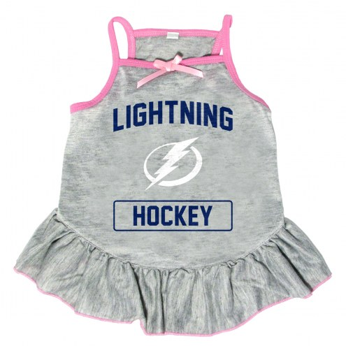 Tampa Bay Lightning Gray Dog Dress