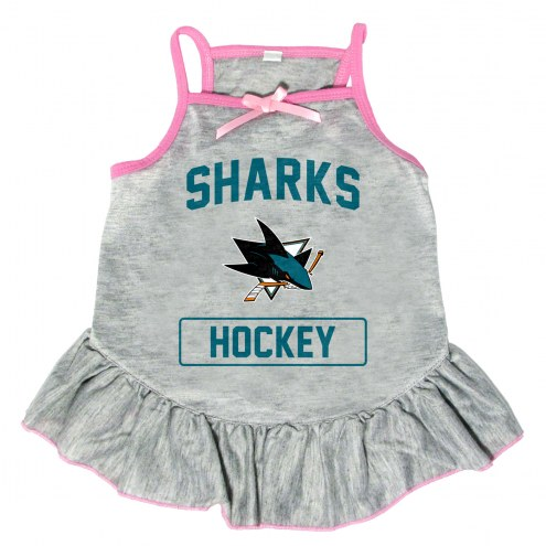 San Jose Sharks Gray Dog Dress