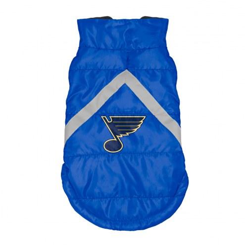 St. Louis Blues Dog Puffer Vest