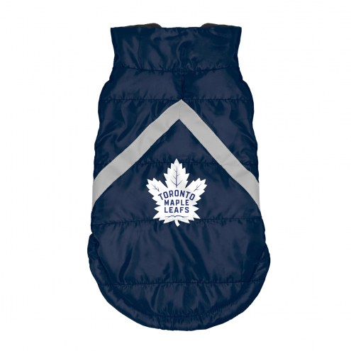 Toronto Maple Leafs Dog Puffer Vest