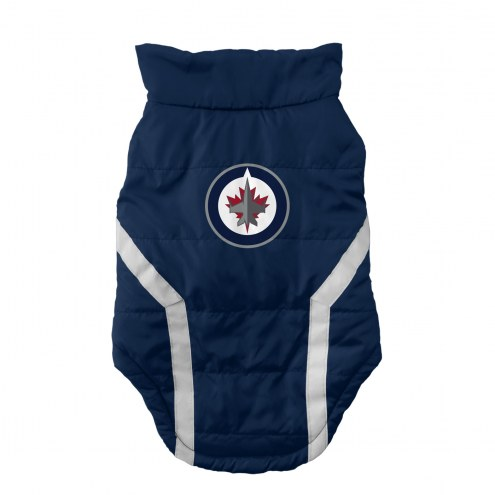 Winnipeg Jets Dog Puffer Vest