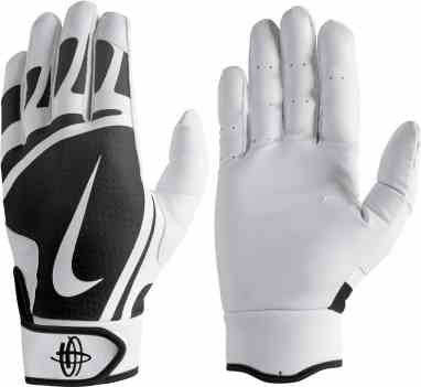 5d168f8cec9d Nike Huarache Edge Youth Baseball Batting Gloves. Selected Color  White  Black White