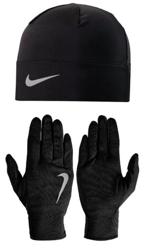 Nike Men's Run Dry Hat and Glove Set