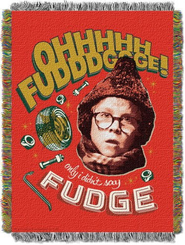 A Christmas Story Oh Fudge Throw Blanket