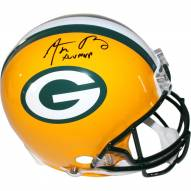 "Aaron Rodgers Green Bay Packers Full Size Authentic Helmet w/ "" XLV MVP"" Insc"