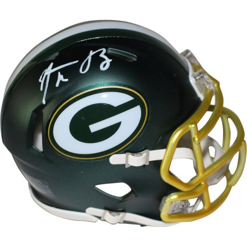 Aaron Rodgers Signed Green Bay Packers Blaze Mini Helmet
