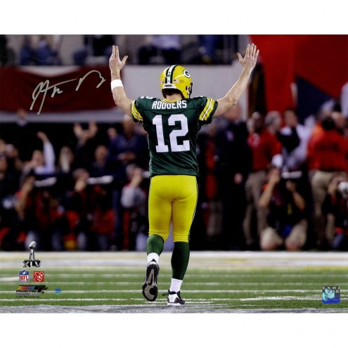 Aaron Rodgers Signed 'Super Bowl XLV TD Celebration' 16 x 20 Photo
