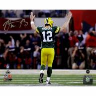 Aaron Rodgers Signed 'Super Bowl XLV TD Celebration' 8x10 Photo