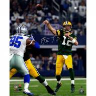 Aaron Rodgers Signed 'Throw Vs. Dallas' 16x20 Photo